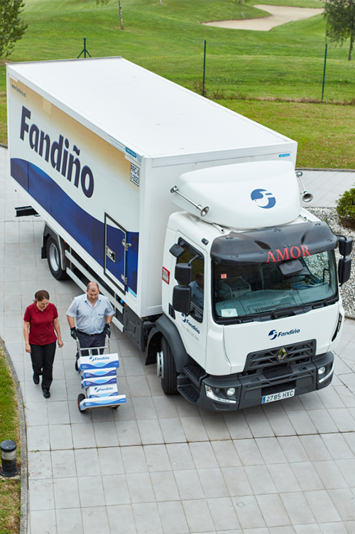 REFRIGERATED TRANSPORT IN SPAIN - Renault truck D